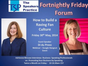 TSP Fortnightly Free Friday Forum Di du Preez