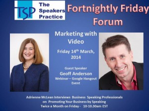TSP Fortnightly Free Friday Forum Geoff Anderson FFF photo