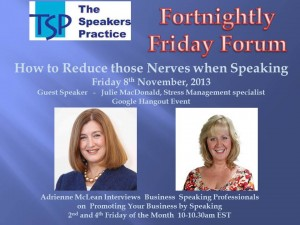 TSP Fortnightly Free Friday Forum Julie MacDonald 8th Nov