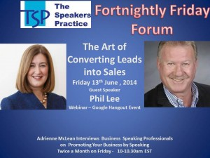 TSP Fortnightly Free Friday Forum Phil Lee 13th June