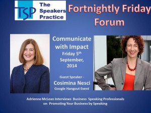 TSP-Fortnightly-Free-Friday-Forum-Cosimina-Nesci